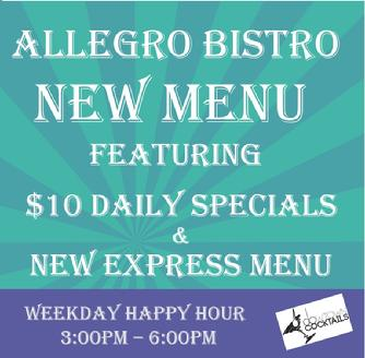 New Lunch Menu Allegro Downtown New Orleans